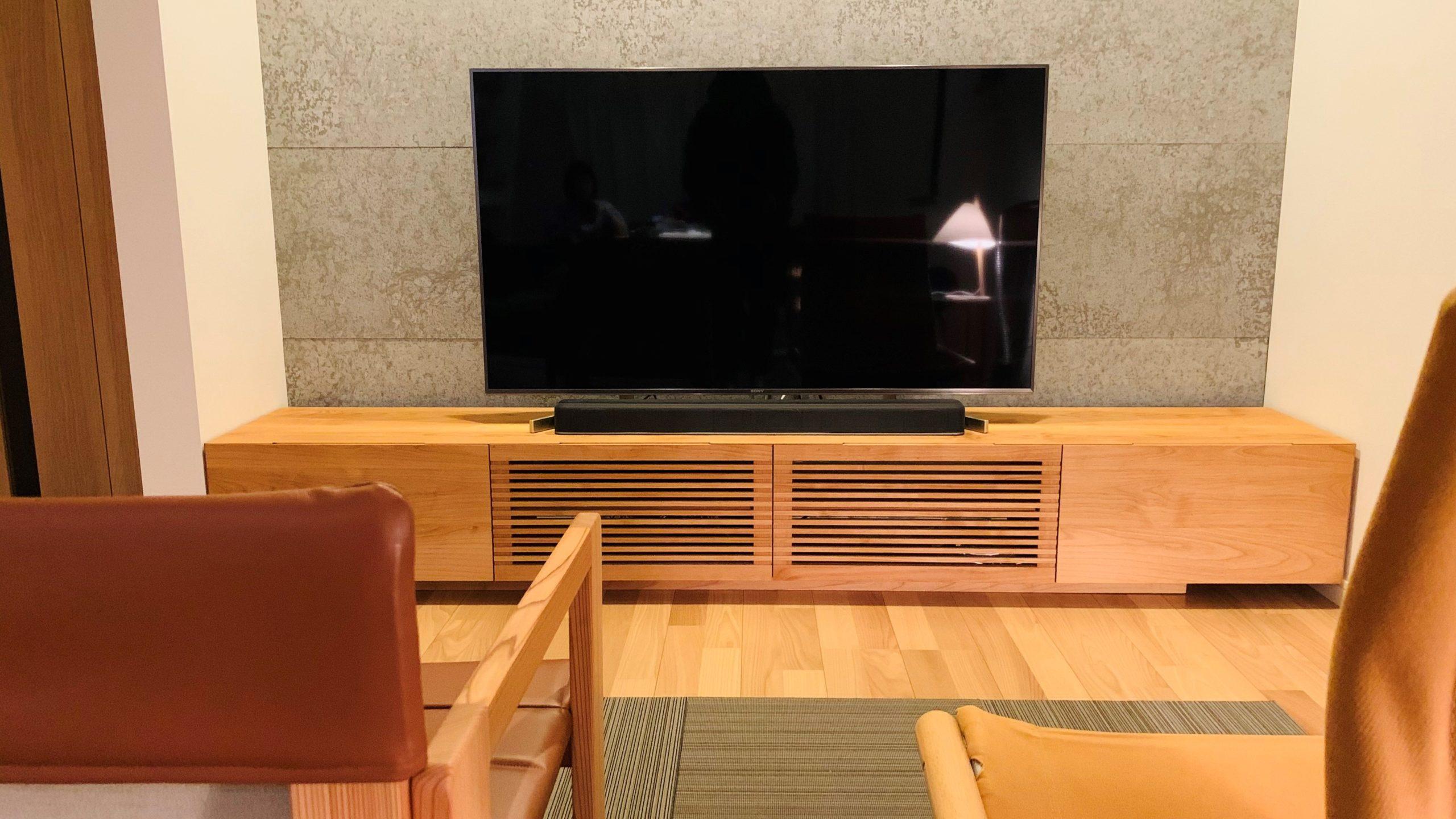 スリット入りHAKOテレビボード(完成版)