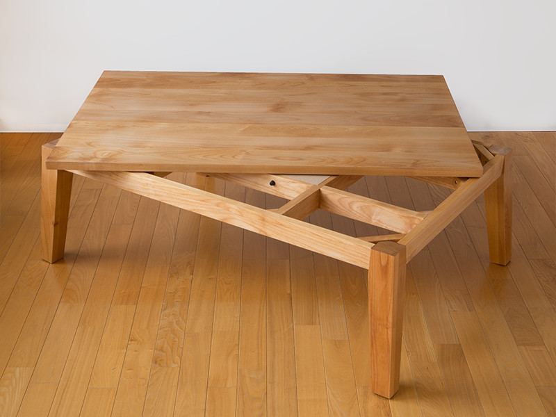 無垢材で木製こたつ