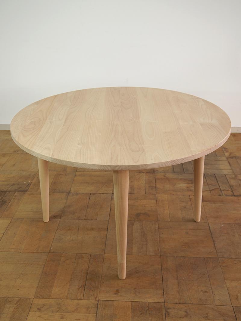 テーパー丸脚テーブル