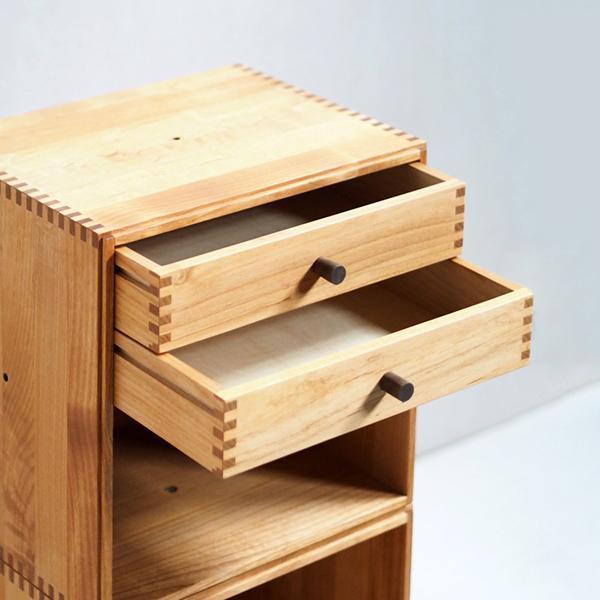 Stacking Cube ボックス2つと小引き出し2杯