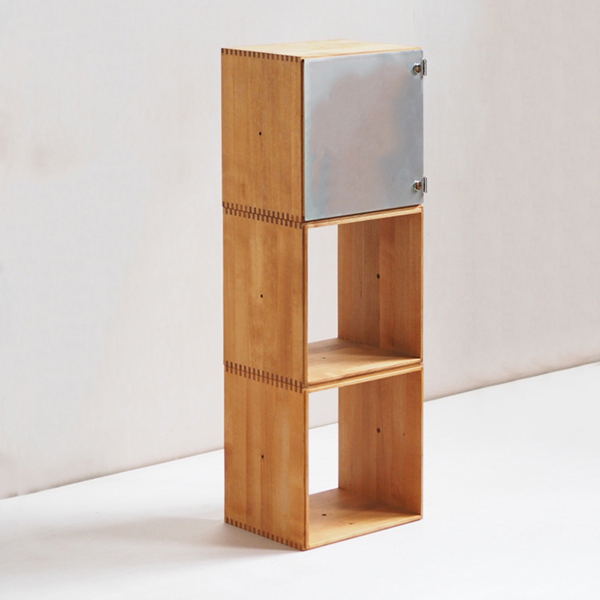 Stacking Cube ボックス3つとアルミ扉