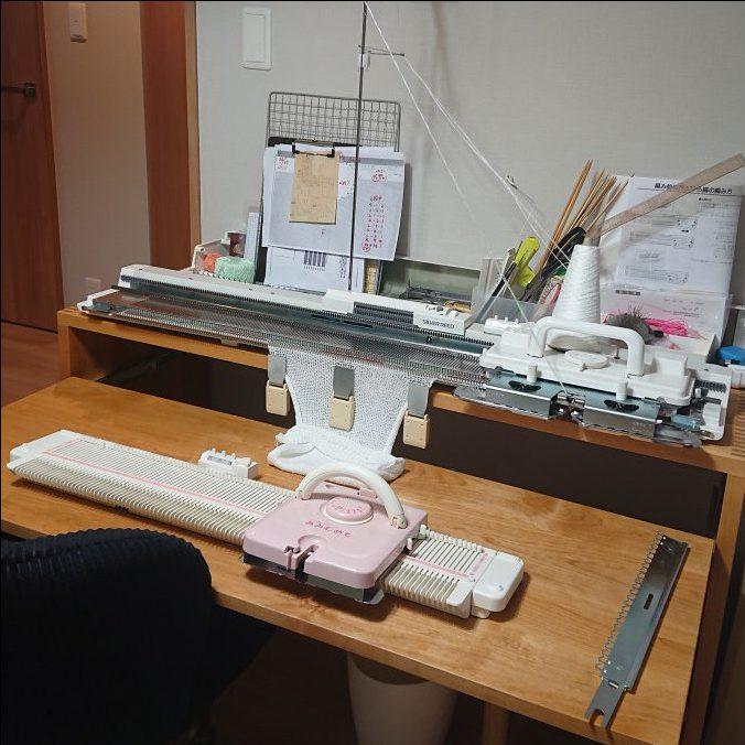 編み機収納用デスク(完成品)